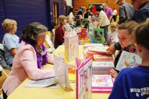 "Jane O'Connor (""Fancy Nancy"") at the Hudson Children's Book Festival in Hudson, NY"